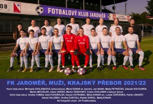 team FK Jaroměř 2021, foto: Václav Mlejnek